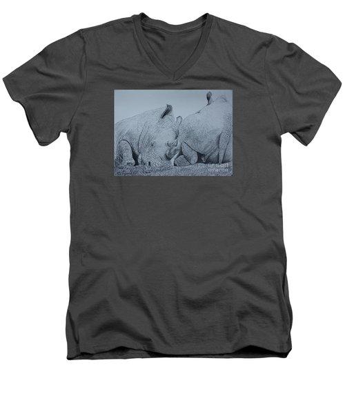 Heads Or Tails Men's V-Neck T-Shirt by David Joyner