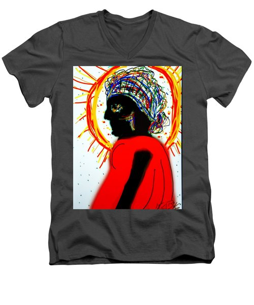 Headscarf Men's V-Neck T-Shirt