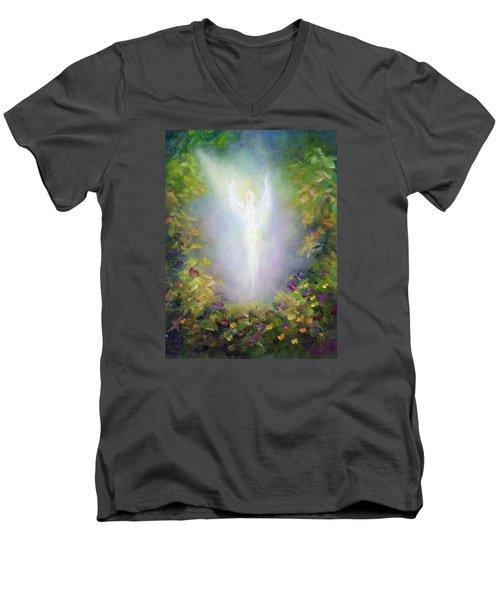 Healing Angel Men's V-Neck T-Shirt