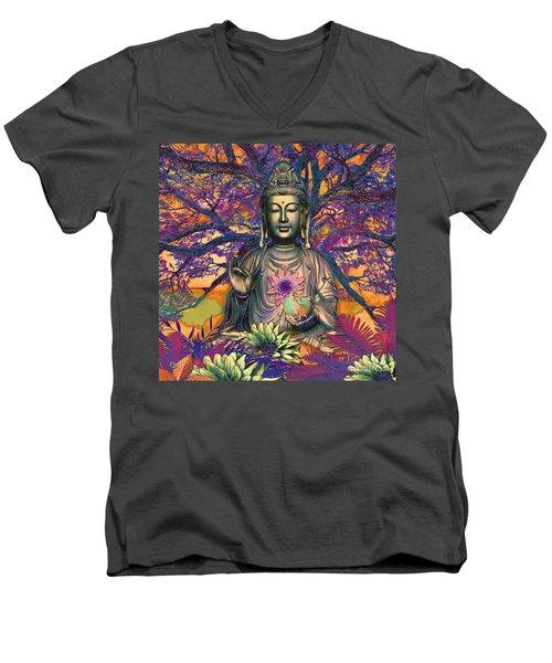 Healing Nature Men's V-Neck T-Shirt