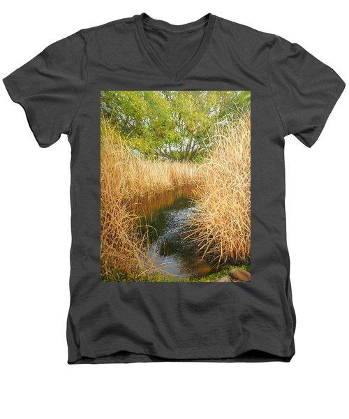 Hear The Croaking Frogs Men's V-Neck T-Shirt