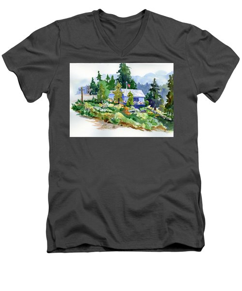 Hearse House Garden Men's V-Neck T-Shirt