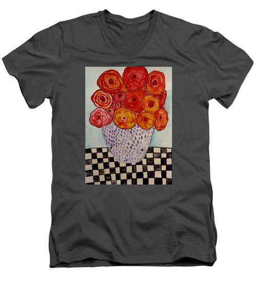 Heart And Matter Men's V-Neck T-Shirt by Lisa Aerts