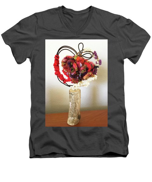 Heart Art Men's V-Neck T-Shirt
