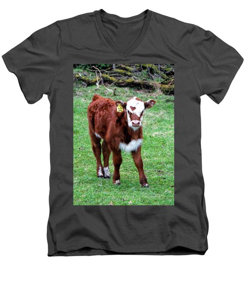 Men's V-Neck T-Shirt featuring the photograph Heart by Cricket Hackmann