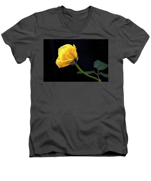 Men's V-Neck T-Shirt featuring the photograph Heart Felt by James Steele