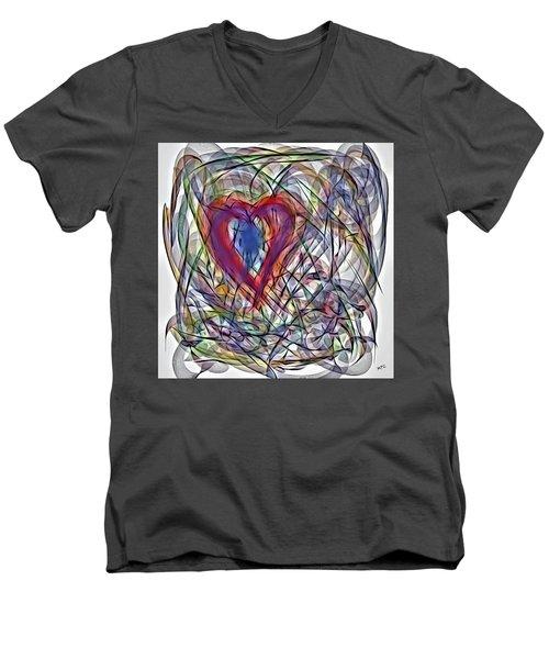 Heart In Motion Abstract Men's V-Neck T-Shirt