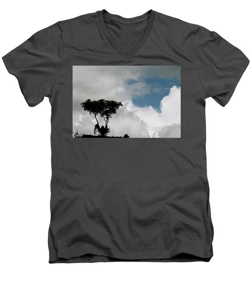 Heart In The Clouds Men's V-Neck T-Shirt