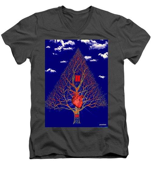 Heart Is The Abode Of The Spirit Men's V-Neck T-Shirt