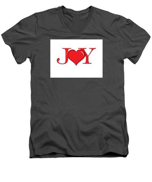 Heart Joy Men's V-Neck T-Shirt by Greg Slocum