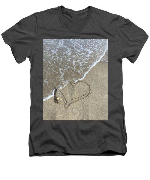 Heart Lost Men's V-Neck T-Shirt