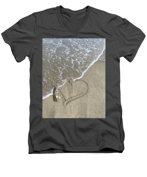 Heart Lost Men's V-Neck T-Shirt