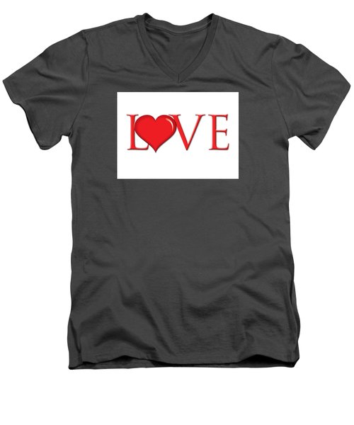 Heart Love Men's V-Neck T-Shirt