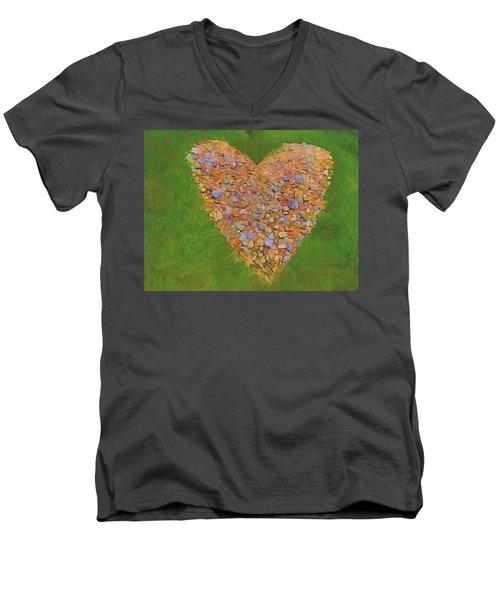 Heart Made Of Stones Men's V-Neck T-Shirt