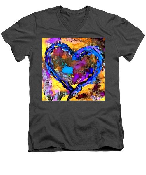 Heart No 7 Men's V-Neck T-Shirt