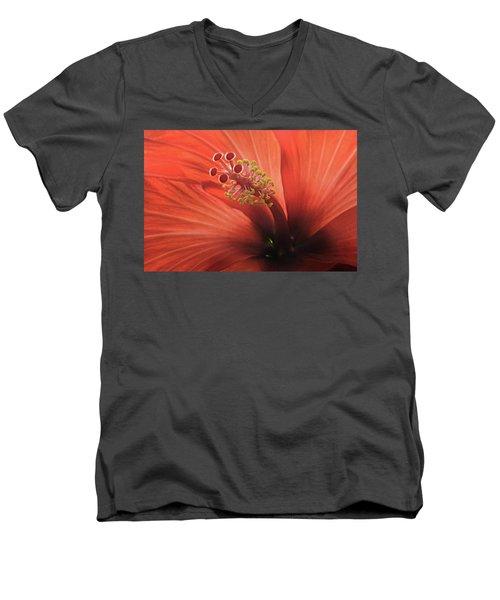 Heart Of Hibiscus Men's V-Neck T-Shirt