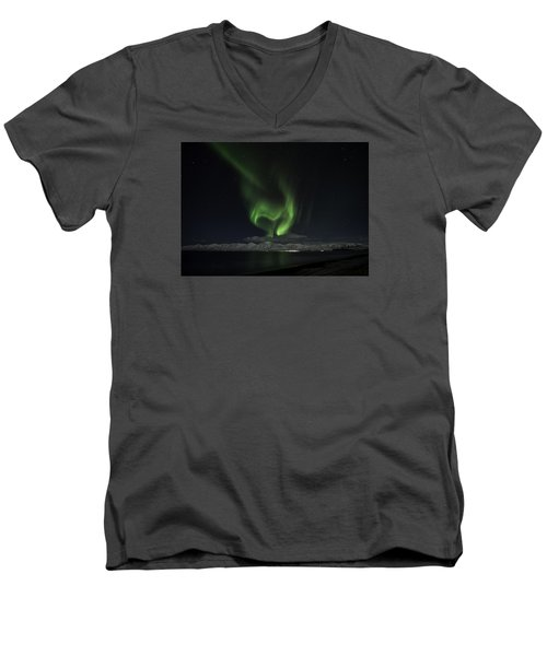 Heart Of Northern Lights Men's V-Neck T-Shirt by Frodi Brinks
