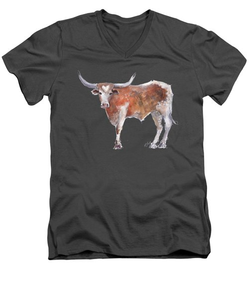 Heart Of Texas Longhorn Men's V-Neck T-Shirt