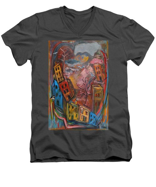 Heart Of The City Men's V-Neck T-Shirt