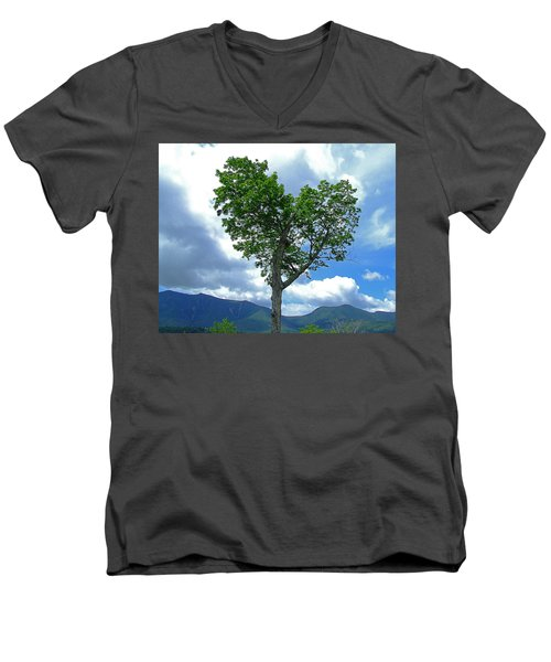 Heart Shaped Tree Men's V-Neck T-Shirt