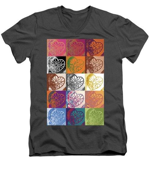 Heart To Heart Rendition 5x3 Equals 15 Men's V-Neck T-Shirt