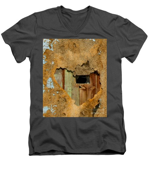 Heart Wall Men's V-Neck T-Shirt