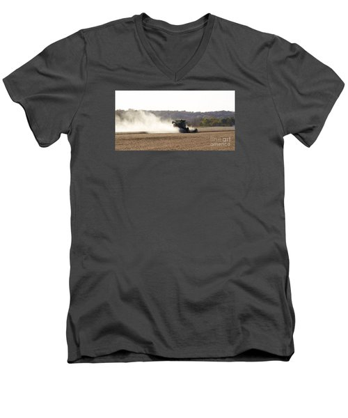 Men's V-Neck T-Shirt featuring the photograph Heartland Harvest  by J L Zarek