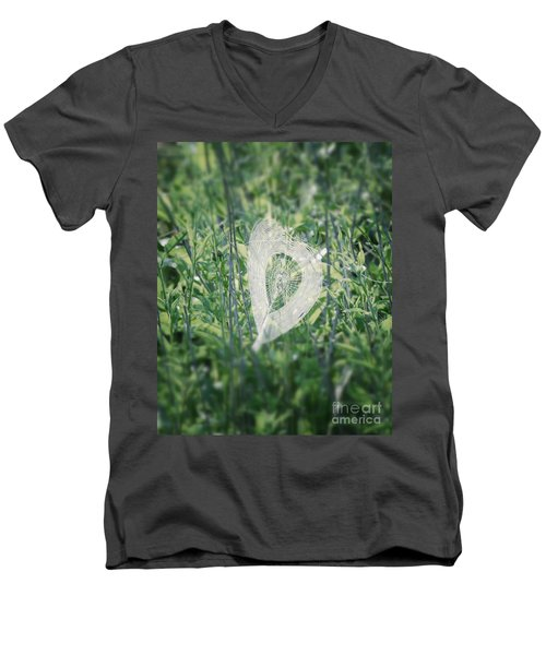 Hearts In Nature - Heart Shaped Web Men's V-Neck T-Shirt