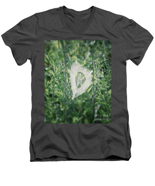 Hearts In Nature - Heart Shaped Web Men's V-Neck T-Shirt