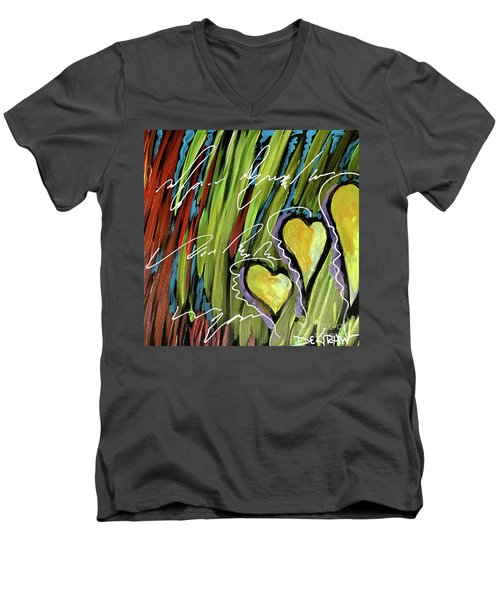 Hearts In The Grass Men's V-Neck T-Shirt