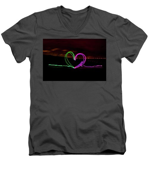 Hearts In The Night Men's V-Neck T-Shirt