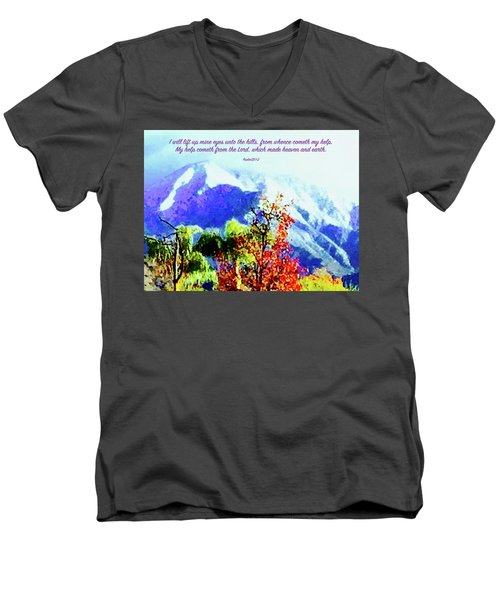 Heaven And Earth Men's V-Neck T-Shirt by Russell Keating