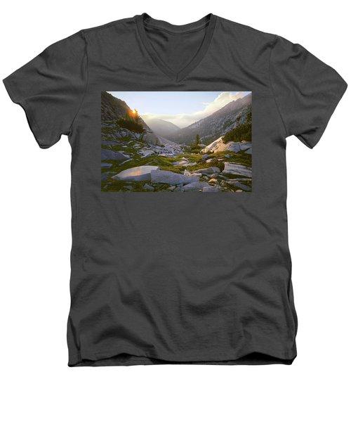 Heaven Can't Wait Men's V-Neck T-Shirt