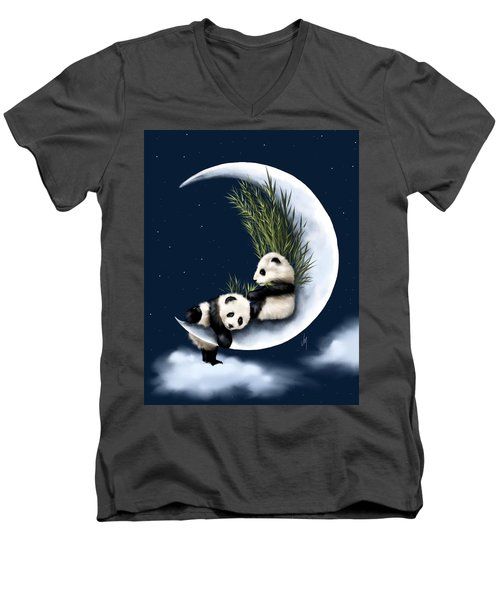 Heaven Of Rest Men's V-Neck T-Shirt by Veronica Minozzi