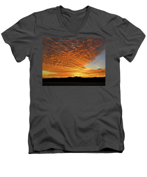 Heaven Sent Golden Sunrise Men's V-Neck T-Shirt