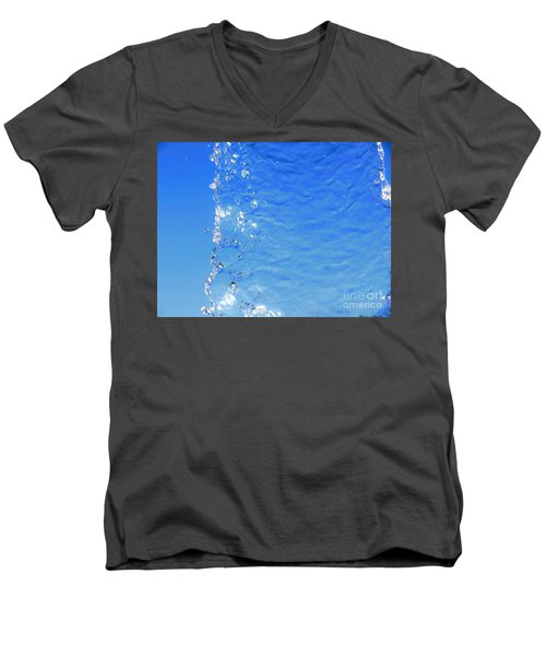 Men's V-Neck T-Shirt featuring the photograph Waterfall by Ray Shrewsberry