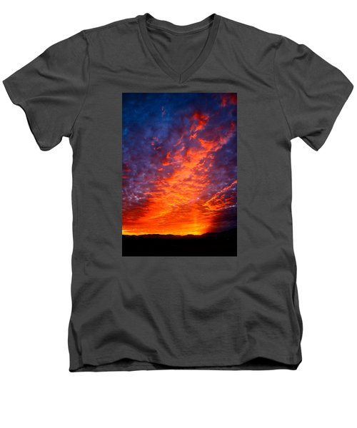 Heavenly Flames Men's V-Neck T-Shirt by Paul Marto