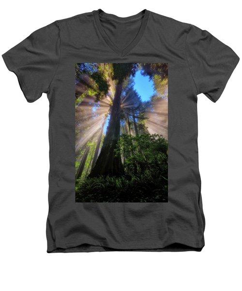 Heavenly Light Rays Men's V-Neck T-Shirt