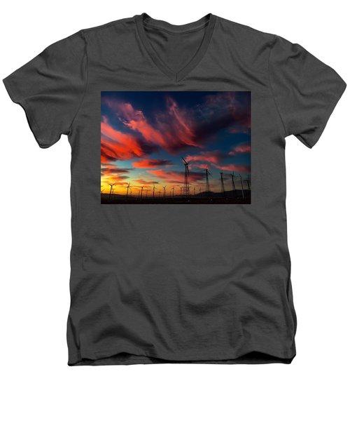 Heavenly Sunrise Men's V-Neck T-Shirt