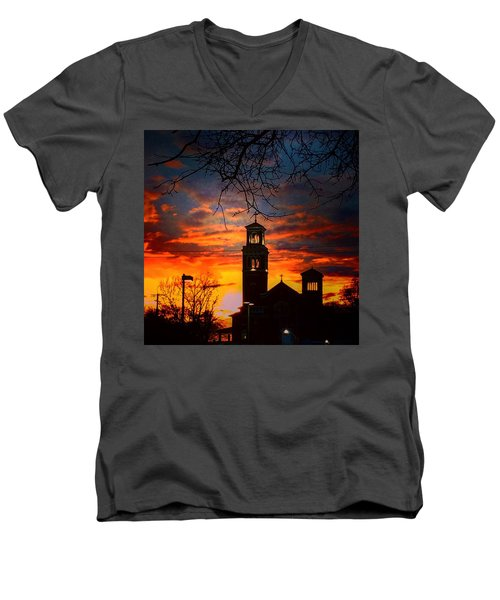Heavenly Sunset Men's V-Neck T-Shirt