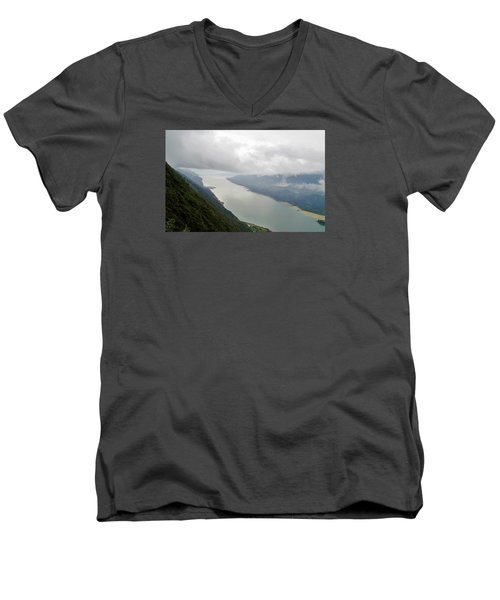 Heavens Door Men's V-Neck T-Shirt by Martin Cline