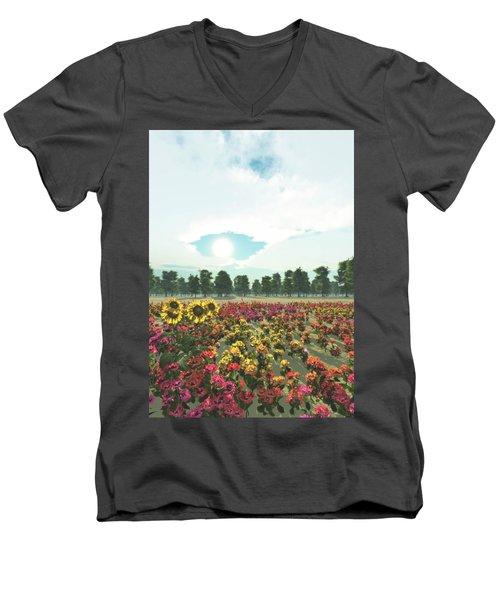 Heavens Eye Men's V-Neck T-Shirt