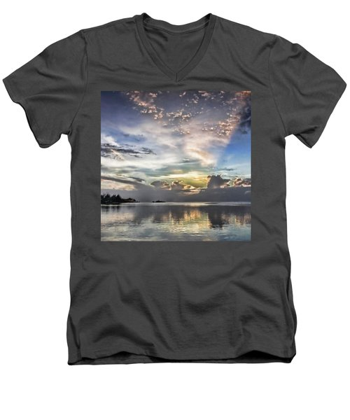 Heaven's Light - Coyaba, Ironshore Men's V-Neck T-Shirt by John Edwards