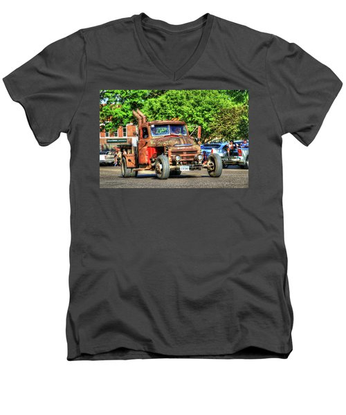 Heavy Duty Custom Dodge Men's V-Neck T-Shirt