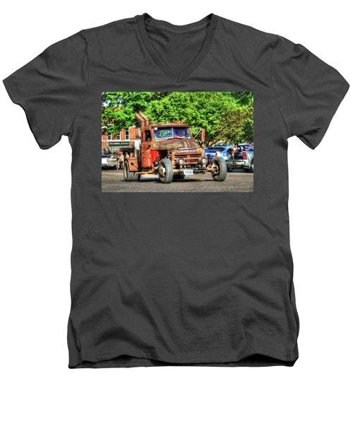 Heavy Duty Custom Dodge Men's V-Neck T-Shirt
