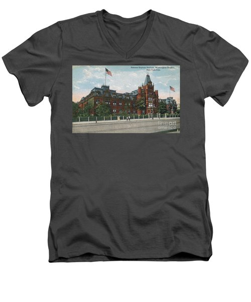 Men's V-Neck T-Shirt featuring the photograph Hebrew Orphan Asylum by Cole Thompson