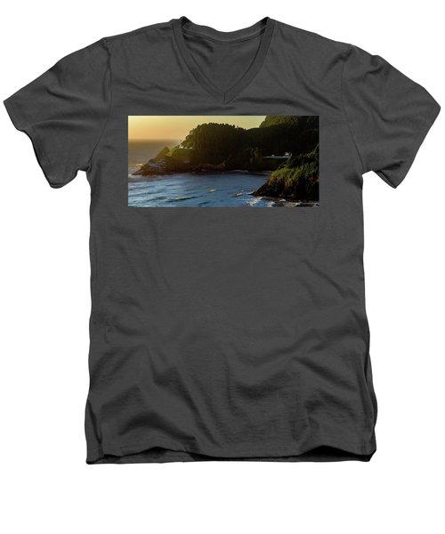 Heceta Head Lighthouse Men's V-Neck T-Shirt