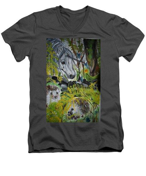 Hedgies Men's V-Neck T-Shirt