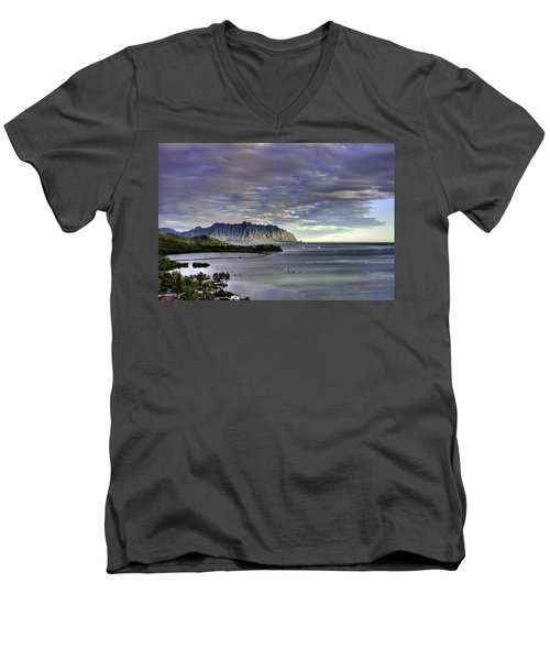 He'eia And Kualoa 2nd Crop Men's V-Neck T-Shirt