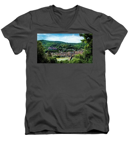 Men's V-Neck T-Shirt featuring the photograph Heidelberg Germany by David Morefield